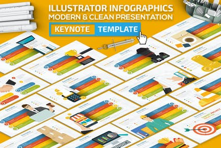 Illustrator Infographics Keynote Presentation