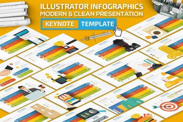Thumbnail for Illustrator Infographics Keynote Presentation