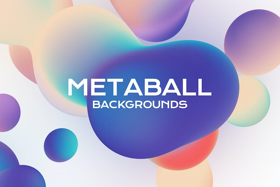 Metaball. Holographic Liquid Bubbles Backgrounds