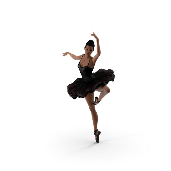 Light Skinned Black Ballerina Dancing Pose