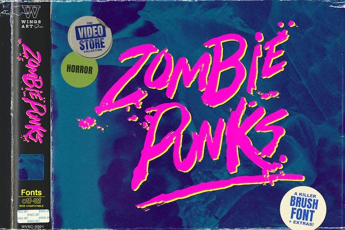 Thumbnail for Zombie Punks - The Retro Horror Movie Font