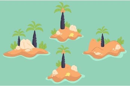 Ilustración de la isla