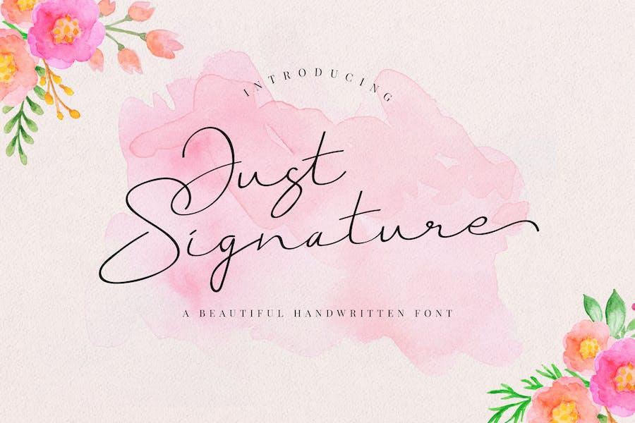 Just Signature Business Font