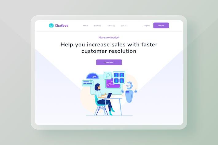 Chatbot Schnellere Zielseite zur Kundenlösung
