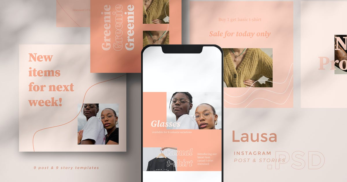 Download Lausa - Instagram Template Set BL by Rometheme