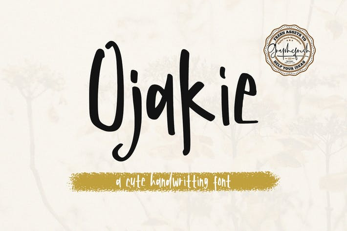 Thumbnail for Ojakie - Cute Display Font