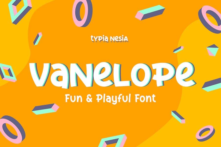 Vanelope - Fun Playful Font