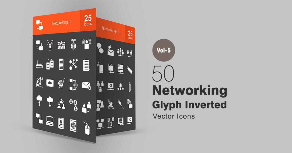 Download 50 Networking Glyph Inverted Icons by IconBunny