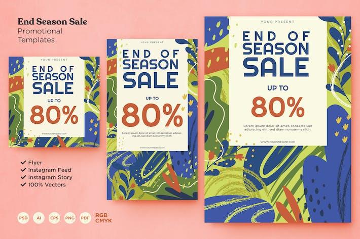 End Season Promotional Flyer & Instagram Templates