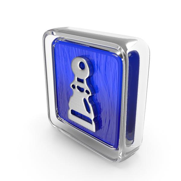 Pawn Icon Glass