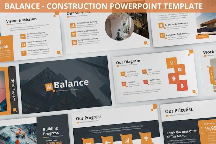 Balance - Construction Powerpoint Template