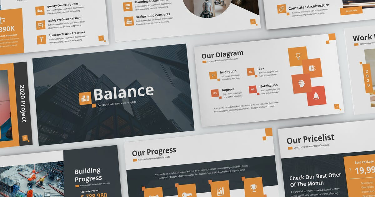 Download Balance - Construction Powerpoint Template by SlideFactory