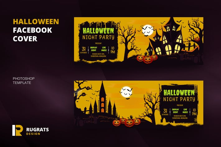 Thumbnail for Halloween R.2 Facebook Cover Template