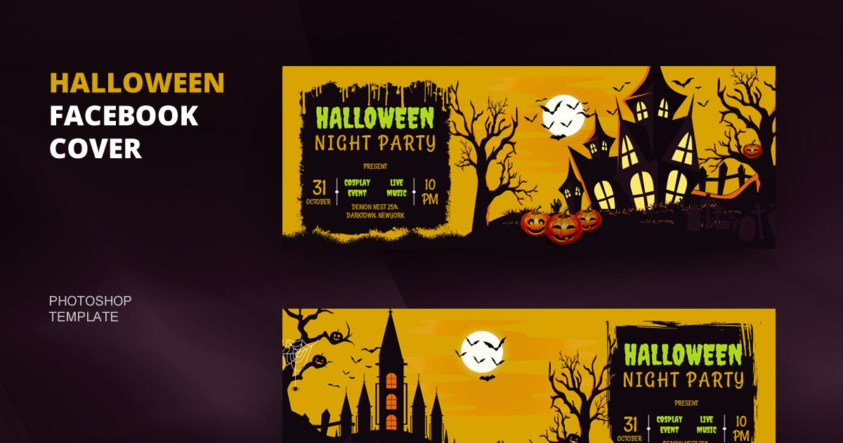 Download Halloween R.2 Facebook Cover Template by youwes