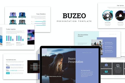 Buzeo : Socmed Marketing Pitch Deck Google Slides