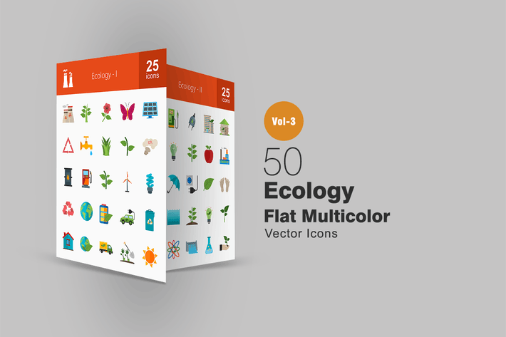 Thumbnail for 50 Ecology Flat Multicolor Icons