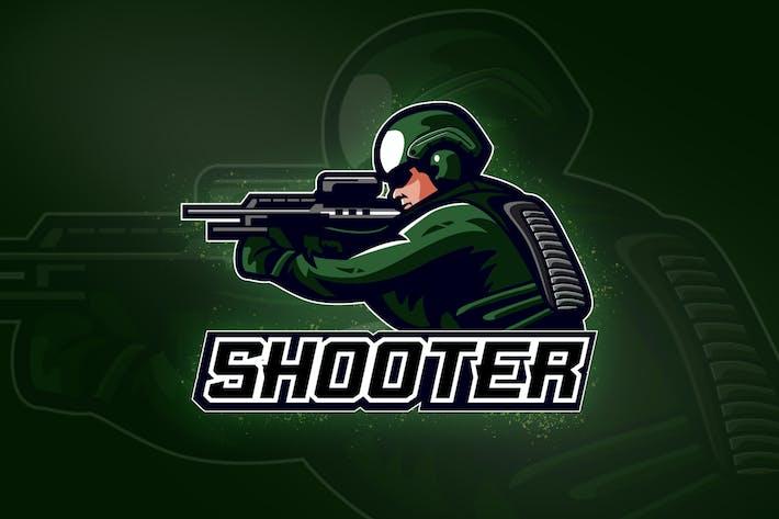Thumbnail for Squad shooters Team No.1 - esport logo