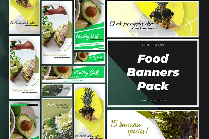 Thumbnail for Food Banner Pack