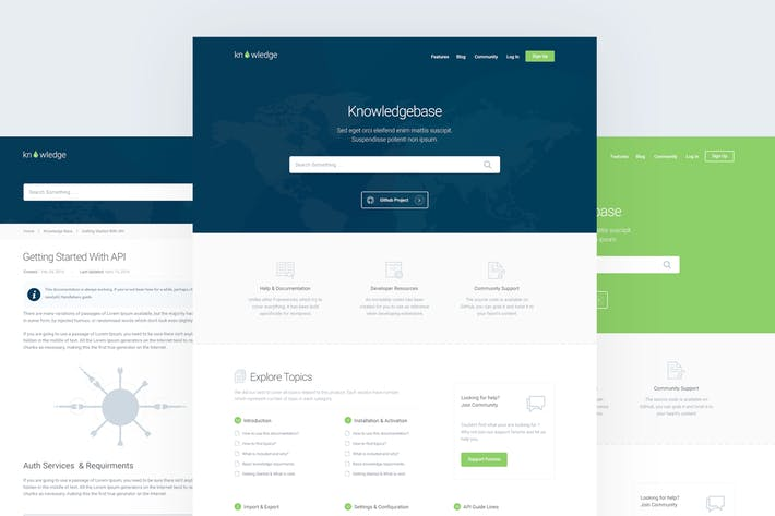 Thumbnail for Knowledge - Knowledgebase & Documentation Template