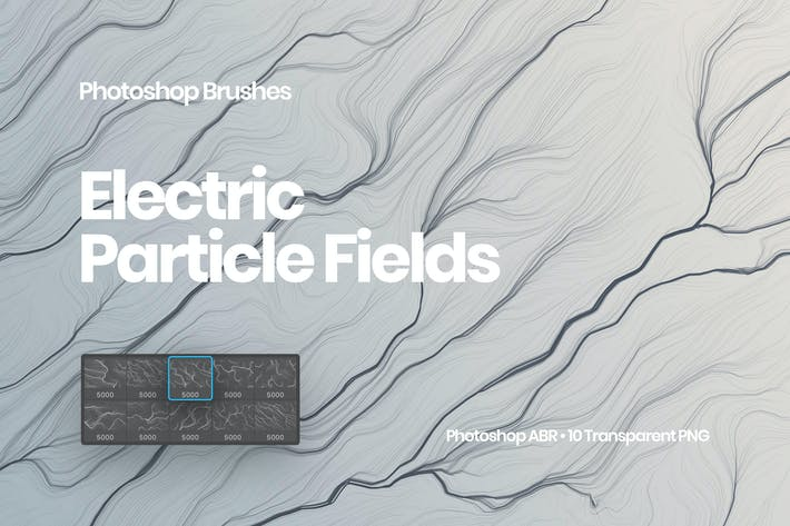 Electric Particle Fields Brushes Photoshop Brushes