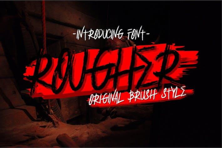 Thumbnail for Rougher - Brush Font