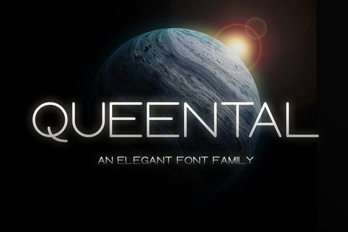 Thumbnail for Queental - Elegant Sans Font Family