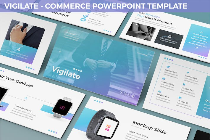 Thumbnail for Vigilate - Commerce Powerpoint Template