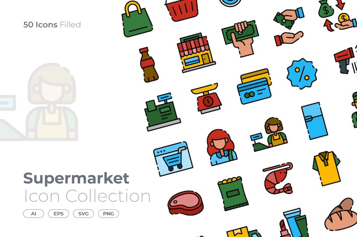 Thumbnail for Supermarket Filled Icon