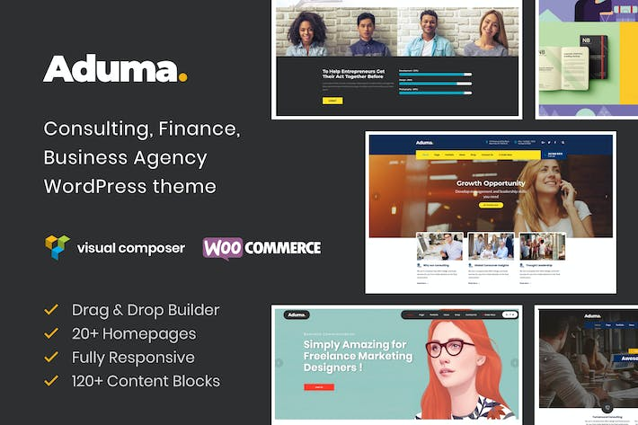 Thumbnail for Aduma - Consulting, Finance, Business WP Theme