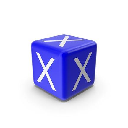 Blue X Block