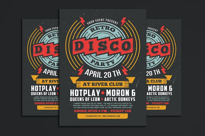 Thumbnail for Retro Disco Flyer