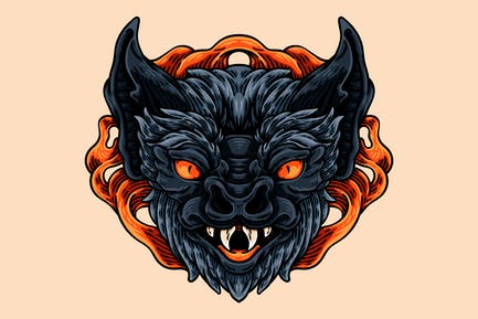 Demon Bat Head
