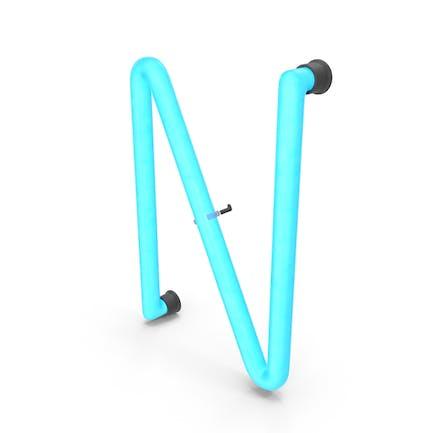 Neonbuchstabe N