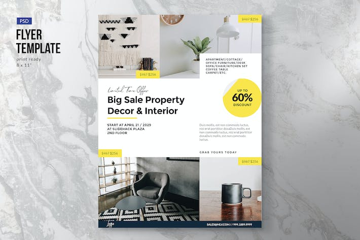 Thumbnail for Furniture Interior Property Flyer Template