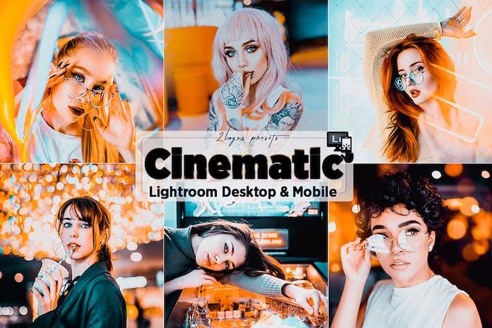 Cinematic Neon Lightroom Presets