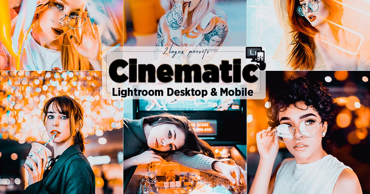 Download Cinematic Neon Lightroom Presets by 2lagus