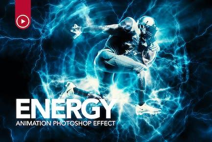 Энергетическая анимация Photoshop действие