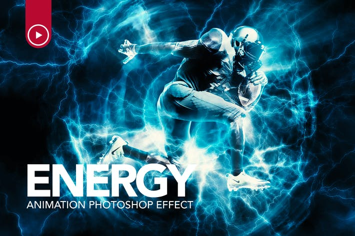 Thumbnail for Énergie Animation Photoshop Action