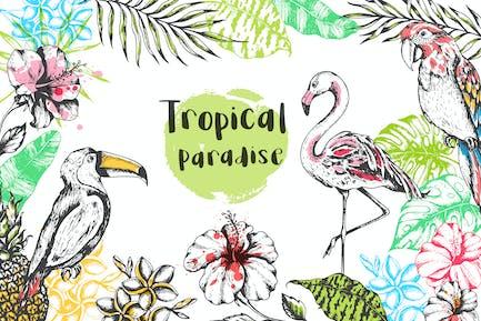 Vintage Tropical Design Kit