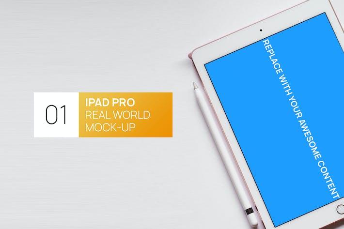 Thumbnail for iPad Pro Minimalistic White Real World Mock-up