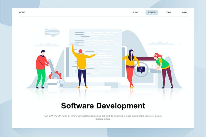Thumbnail for Software Development Flat Concept