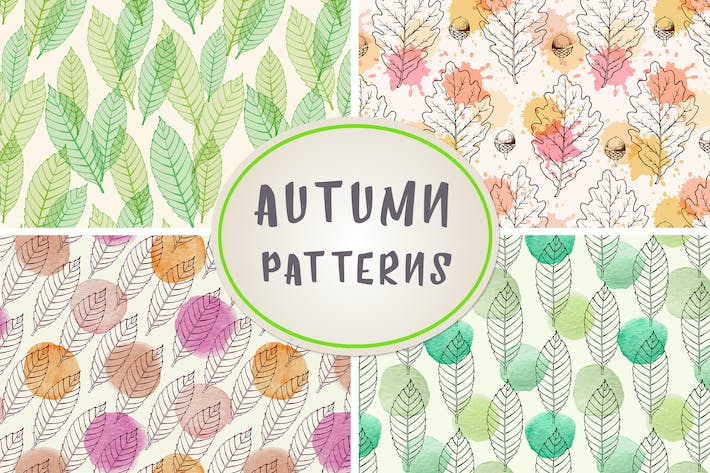 Thumbnail for Autumn Seamless Patterns