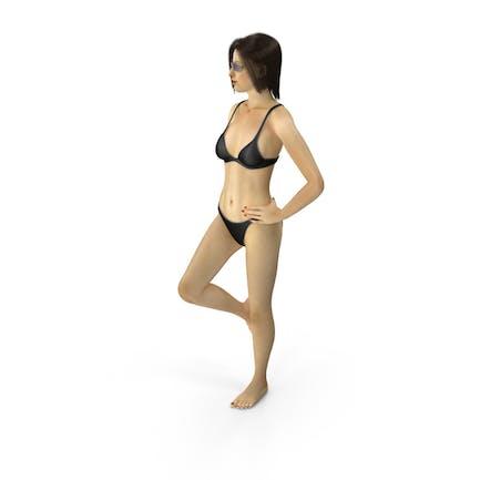Bikini Girl Leaning