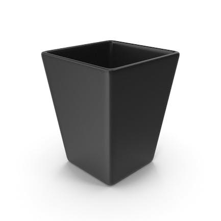 Square Vase Black