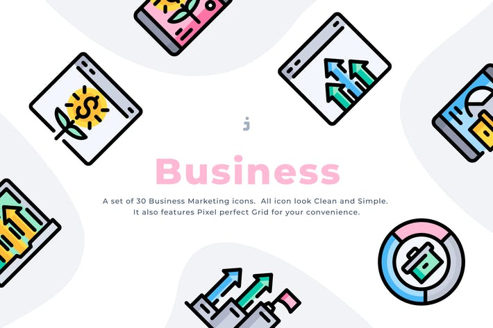 Thumbnail for 30 Business Marketing Icons