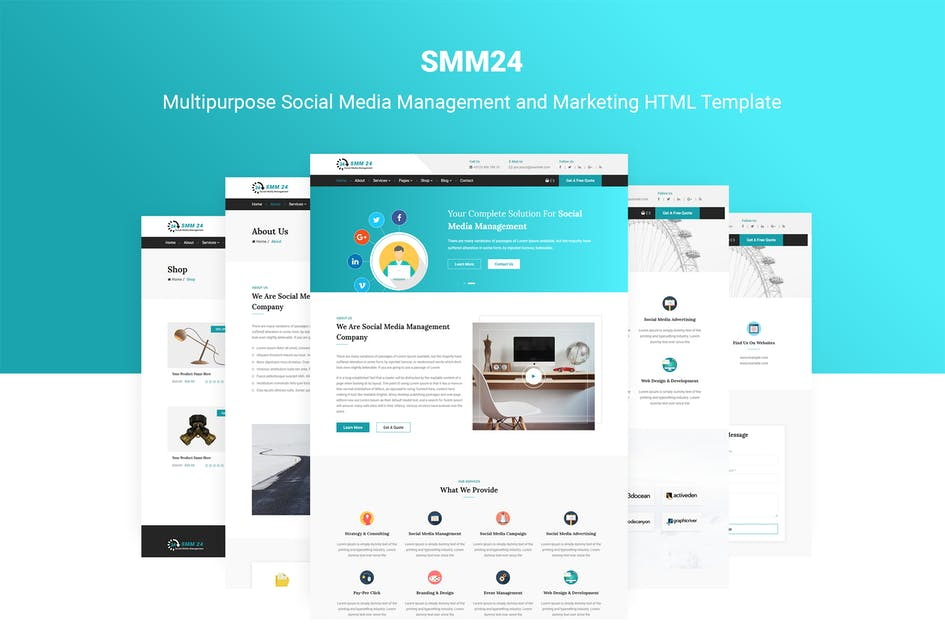 Download SMM24 | Social Media Marketing Template by themelooks