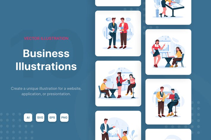 Thumbnail for Business Vector Illustrations