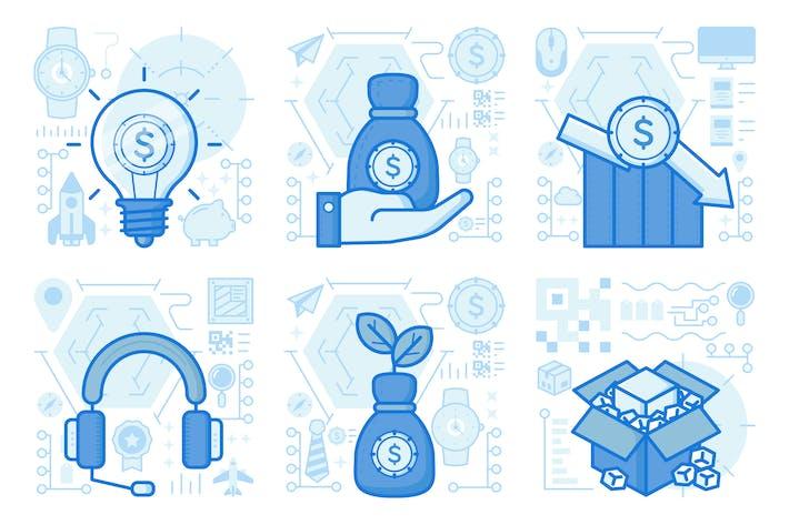 Thumbnail for UX-Illustrationen für Finanzwachstum