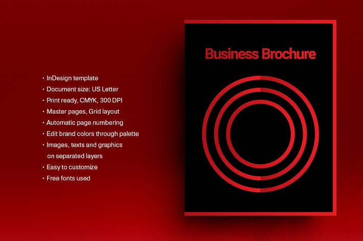 Thumbnail for Swiss Style Brochure Template