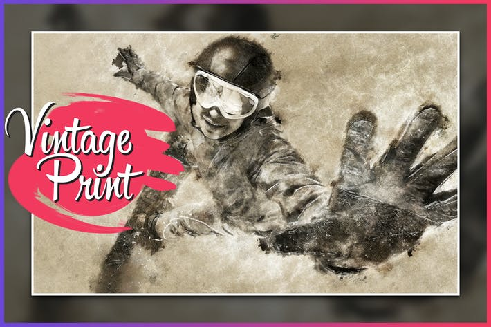 Thumbnail for Impresión Vintage CS4+ Photoshop Action
